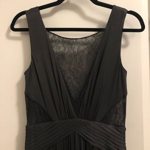 BCBG Long Black Formal Lace Detail Dress